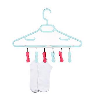 6 Soft Grip Pegs Handy Hanger