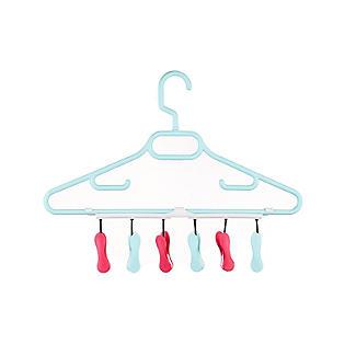 6 Soft Grip Pegs Handy Hanger alt image 2