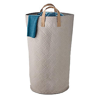 Quilted Standing Laundry Tote