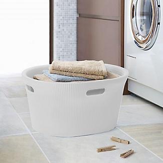 Tatay Laundry Basket White 35L alt image 2