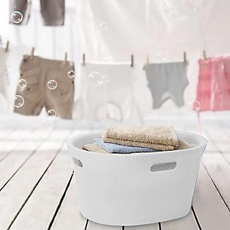 Tatay Laundry Basket White 35L alt image 4