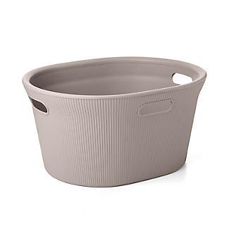 Tatay Laundry Basket Taupe 35L