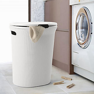 Tatay Laundry Hamper White 40L alt image 3