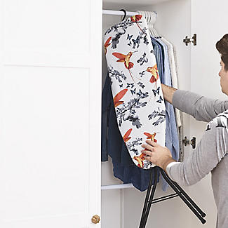 Easy-Store Mini Ironing Board with Hanger Hook – Black alt image 2