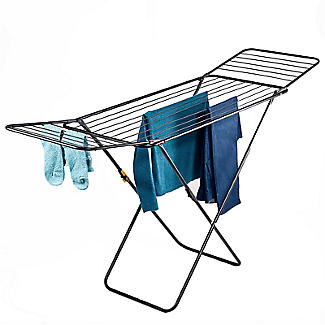 Flat Winged Airer Black