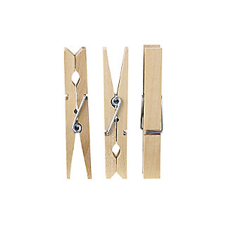 36 Wooden Clothes Pegs alt image 2