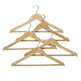 5 FSC-Certified Beech Wood Clothes Hangers