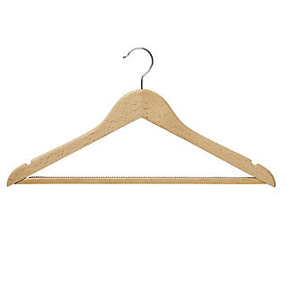 5 FSC-Certified Beech Wood Clothes Hangers  alt image 3