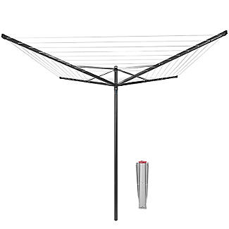 Brabantia 50M Topspinner Rotary Airer – Anthracite Grey 290343