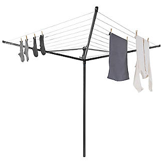 Brabantia 50M Topspinner Rotary Airer – Anthracite Grey 290343 alt image 5