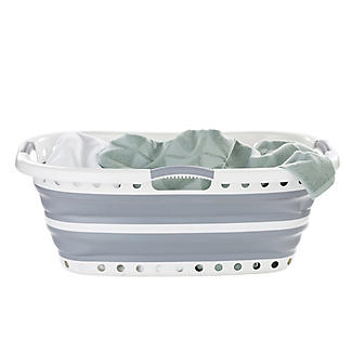Lakeland Collapsible Hipster Laundry Basket 27L