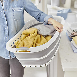 Lakeland Collapsible Hipster Laundry Basket 27L alt image 2