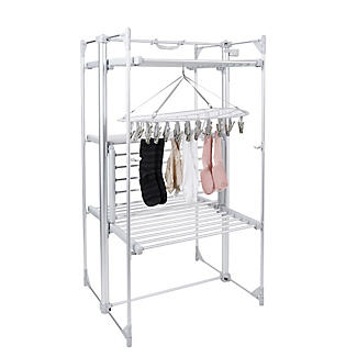 DrySoon 30 Peg Hanger with Mesh Shelf for DrySoon Airers alt image 2