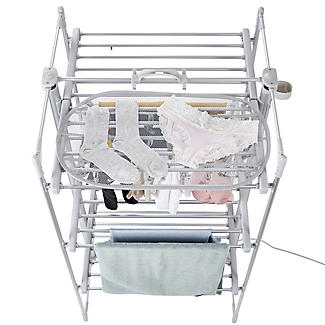 DrySoon 30 Peg Hanger with Mesh Shelf for DrySoon Airers alt image 3