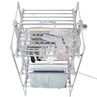DrySoon 30 Peg Hanger with Mesh Shelf for DrySoon Airers alt image 4