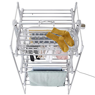 DrySoon 30 Peg Hanger with Mesh Shelf for DrySoon Airers alt image 5
