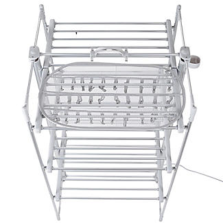 DrySoon 30 Peg Hanger with Mesh Shelf for DrySoon Airers alt image 7
