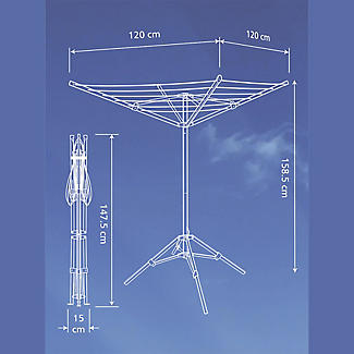 Lakeland Free-Standing Outdoor Rotary Airer alt image 7