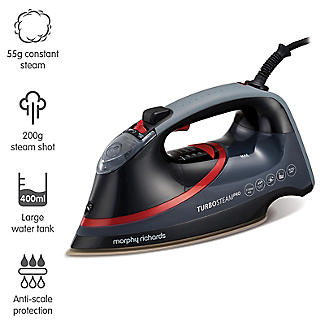 Morphy Richards Turbosteam Pro Pearl Ceramic Steam Iron 303125 alt image 4