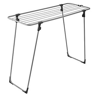 Lakeland Easy-Store Mini Flat Airer with Hanger Hook alt image 3