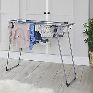 Lakeland Easy-Store Mini Flat Airer with Hanger Hook alt image 6