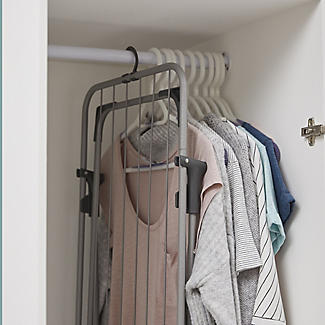 Lakeland Easy-Store Mini Flat Airer with Hanger Hook alt image 7