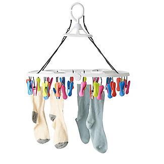 30 Soft Grip Pegs Folding Smalls Dryer alt image 4