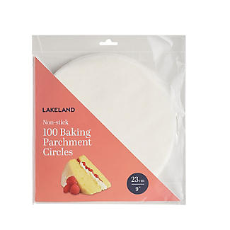 100 Baking Parchment Liner Paper Circles 23cm