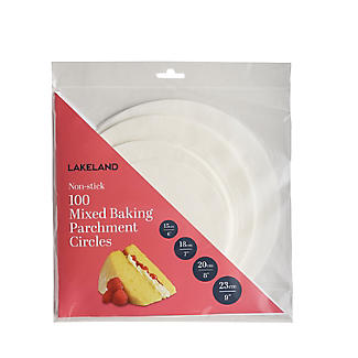 100 Baking Parchment Liner Paper Circles - Mixed Sizes