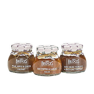 Mrs Bridges Savoury Chutney Trio in a Jute Gift Bag 3 x 100g alt image 2