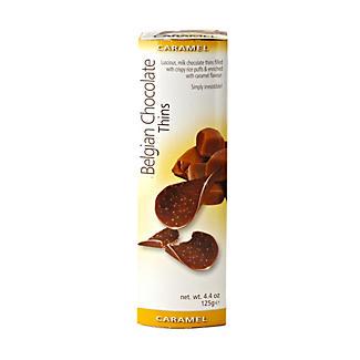 Belgian Milk Chocolate Thins - Caramel Crisp 125g