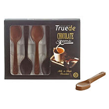 6 Solid Milk & Dark Chocolate Stirring Spoons 54g