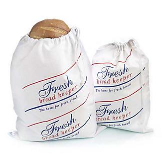 Drawstring Cotton Bread Loaf Storage Bag - Large Size