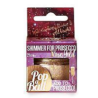 Rose Gold Shimmer Popaball For Prosecco