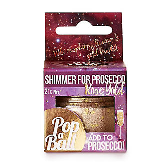 Rose Gold Shimmer Popaball For Prosecco alt image 1