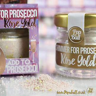 Rose Gold Shimmer Popaball For Prosecco alt image 5