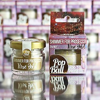 Rose Gold Shimmer Popaball For Prosecco alt image 8