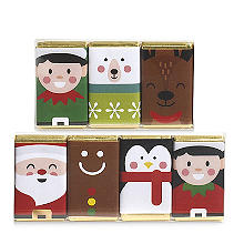 House of Dorchester Christmas Mini Milk Chocolate Bars 70g