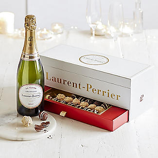 Laurent-Perrier La Cuvée Champagne and Chocolate Truffles Gift Box alt image 2