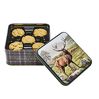 Grandma Wild's Stag Biscuit Tin and Traditional Biscuits 160g alt image 2