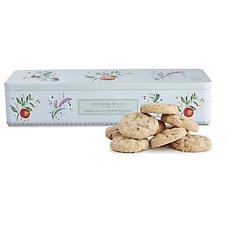 Grandma Wild's Botanical Biscuit Tin and Mini Biscuits 225g