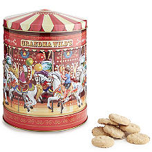 Grandma Wild's Carousel Rotating Musical Biscuit Tin 300g