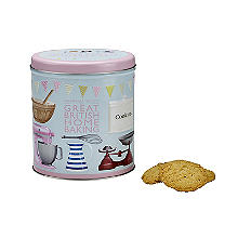 Grandma Wild's Great British Home Baking Biscuit Tin and Biscuits 200g