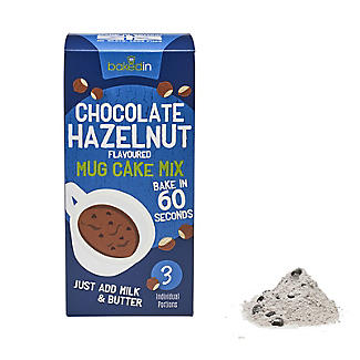 Baked In Chocolate Hazelnut Mug Cake Mix 3 x 55g alt image 1