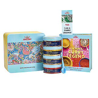 The Spicery How To Be A Curry Legend Cookbook and Spices Gift Tin