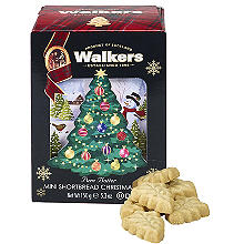 Walkers Mini Christmas Tree Shortbread Biscuits 150g
