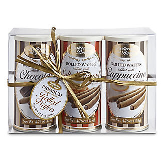 Borgo de' Medici Trio of Italian Rolled Wafers 3 x 135g