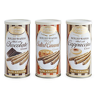 Borgo de' Medici Trio of Italian Rolled Wafers 3 x 135g alt image 2