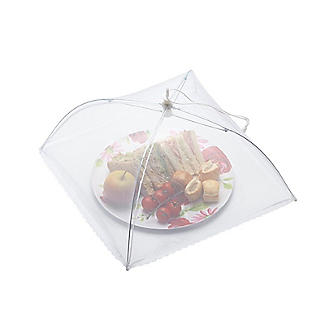 KitchenCraft White Umbrella Food Cover 30cm