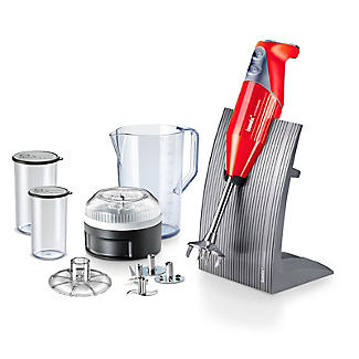 Bamix Colorline Hand Blender Set Red 100.707